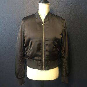 H&M DIVIDED Crop Bomber Jacket